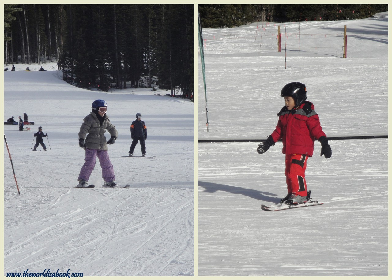 colorado skiing lessons with kids - the world is a book