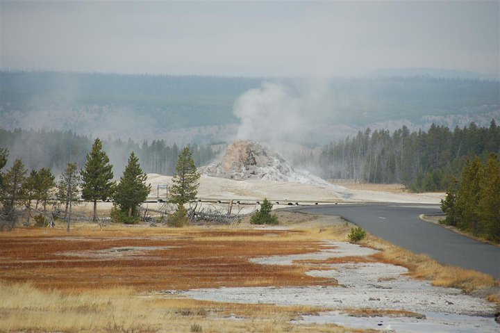 White Dome Geyser Yellowstone