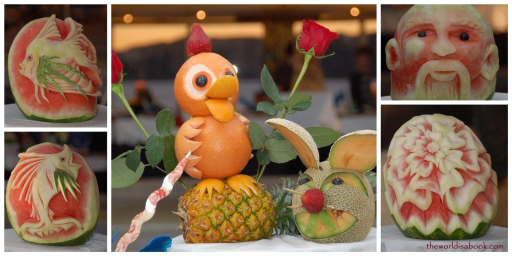cruise ship fruit art