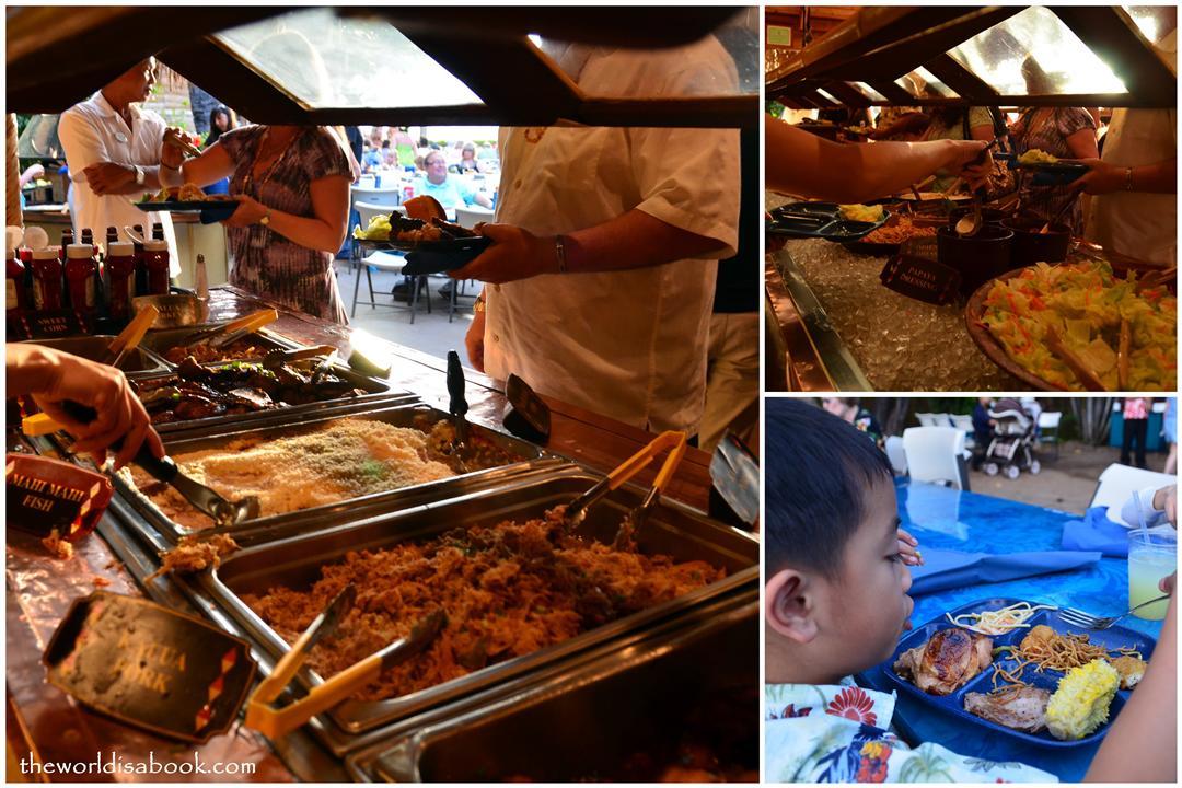 Royal Lahaina Resort luau buffet