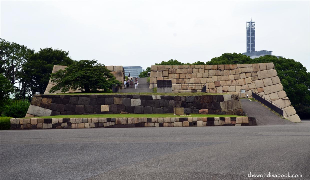 Imperial Palace old Foundation of former Edo Castle tower