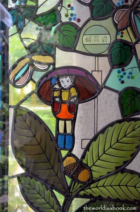 Ghibli stain glass window
