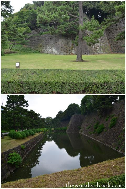 Imperial Palace East Gardens old wall and moat