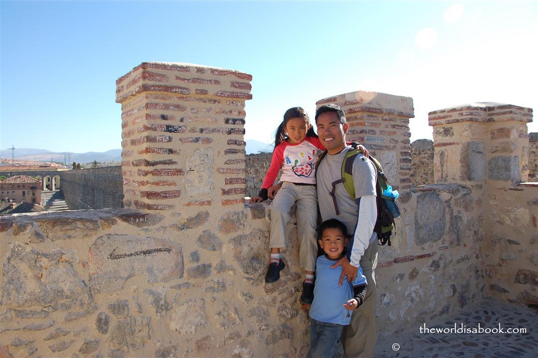 Segovia Roman aqueduct top
