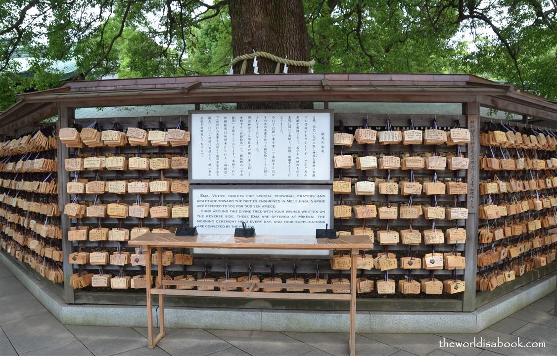 Meiji shrine ema votive