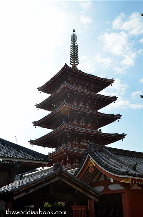 Sensoji five story pagoda