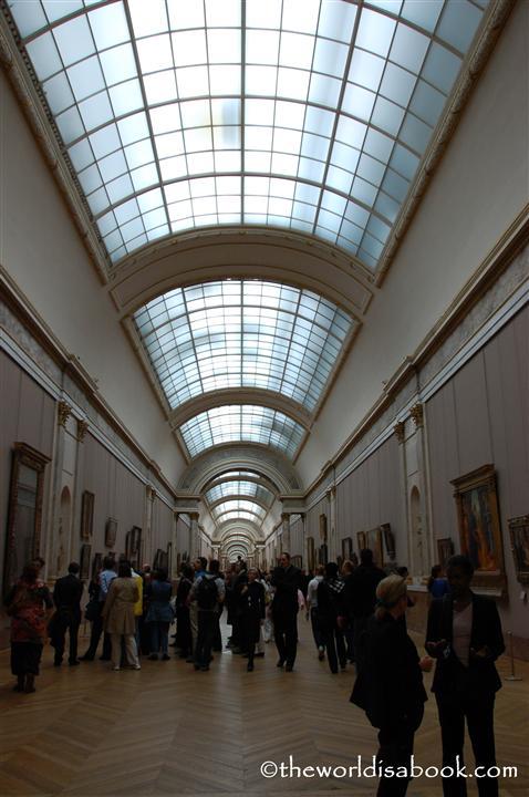 Louvre museum hallway