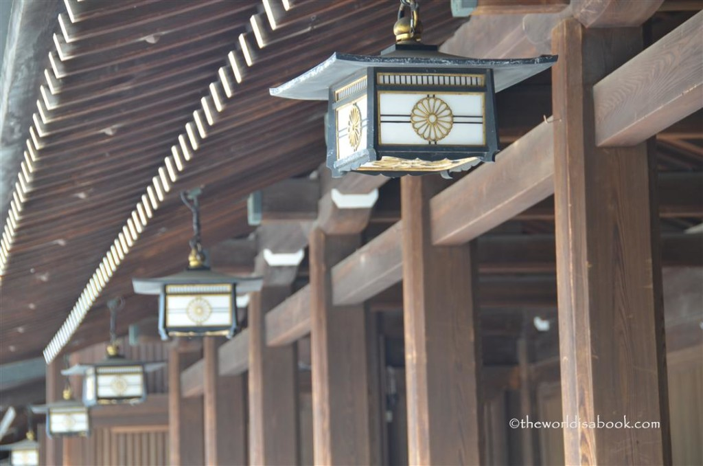 Meiji shrine lanterns