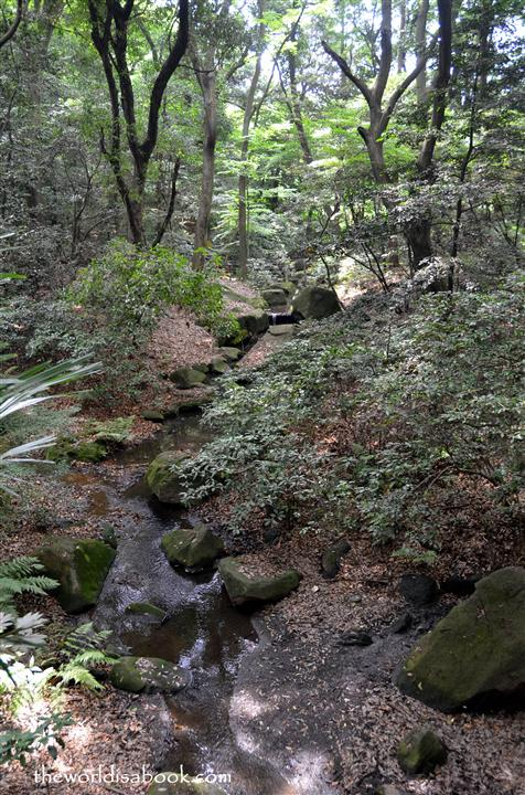 Meiji shrine creek