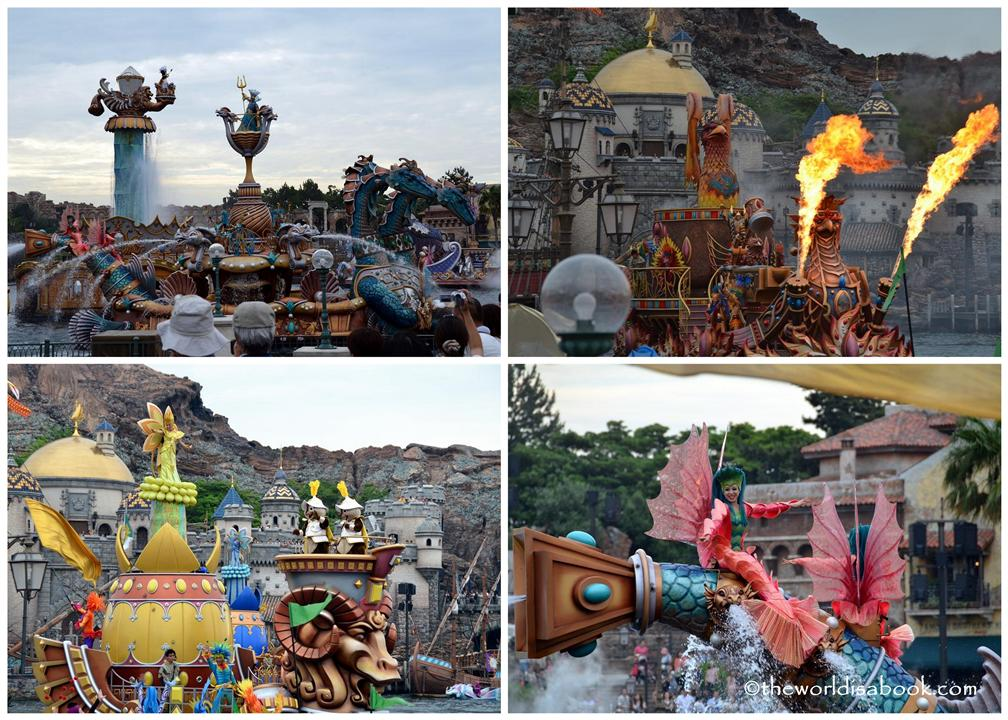 Disney Sea Legend of Mythica floats