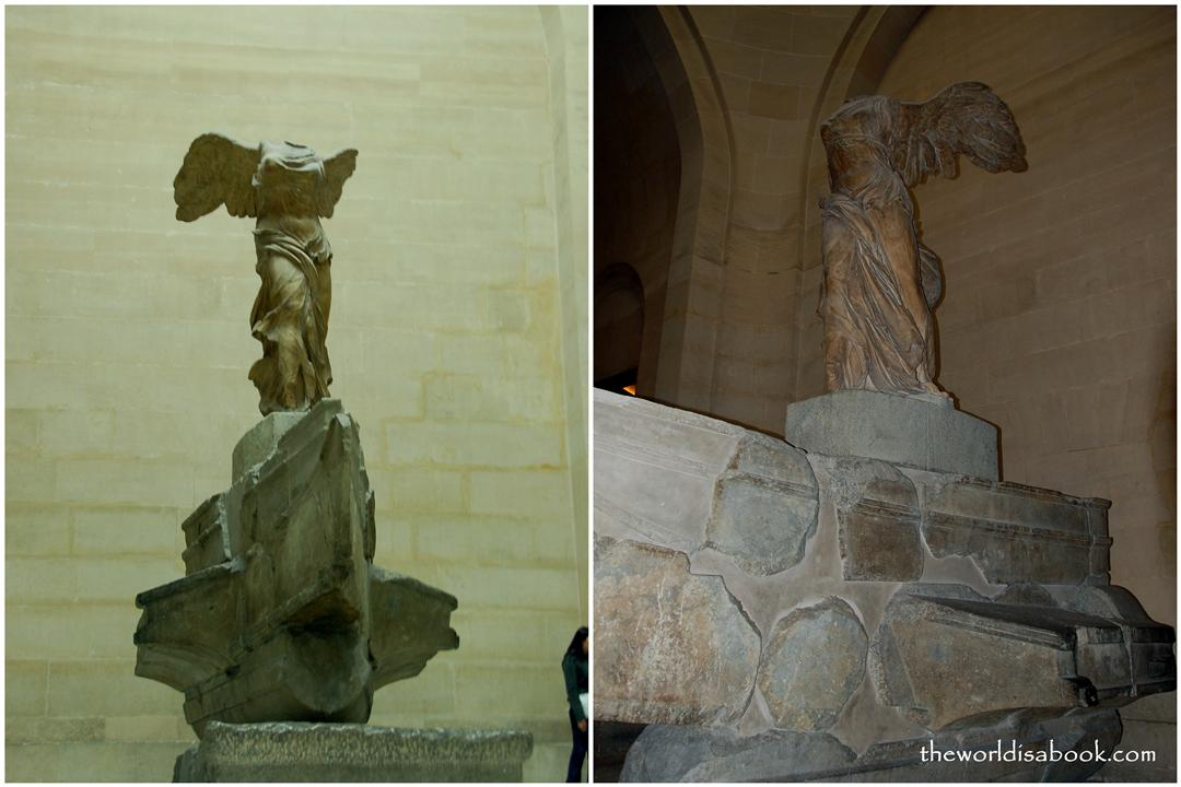 Winged Victory of Samothrace or Nike at Louvre