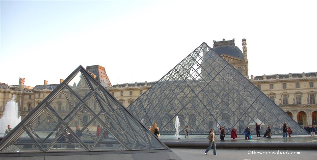 Louvre Museum glass pyramids