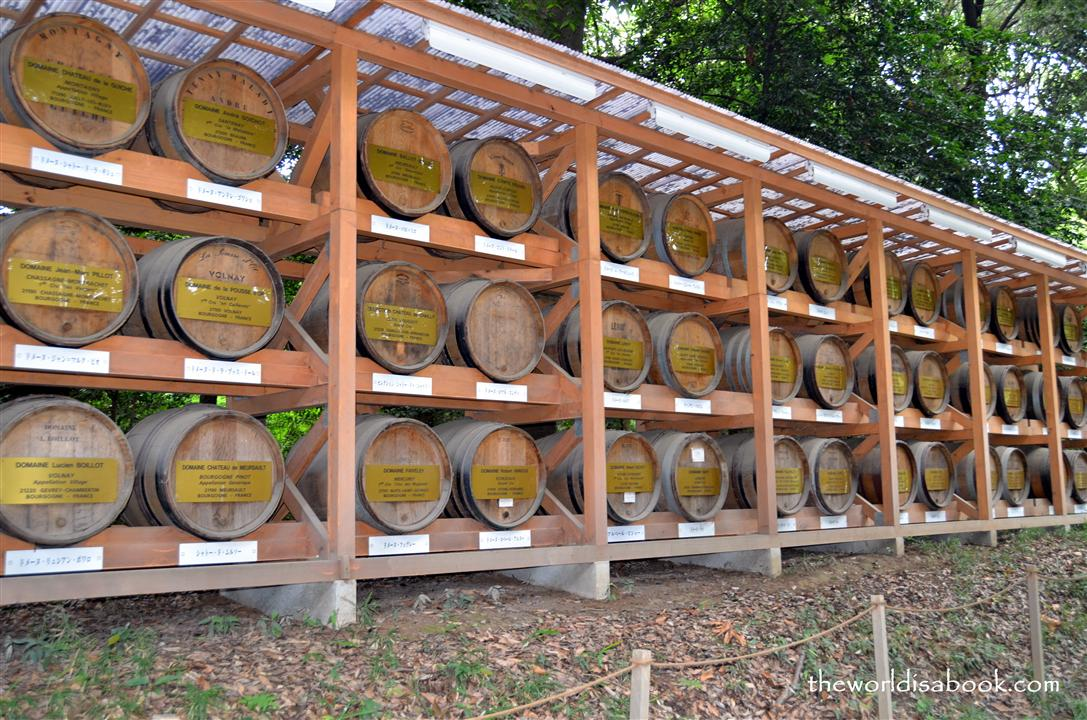 Meiji shrine wine barrels