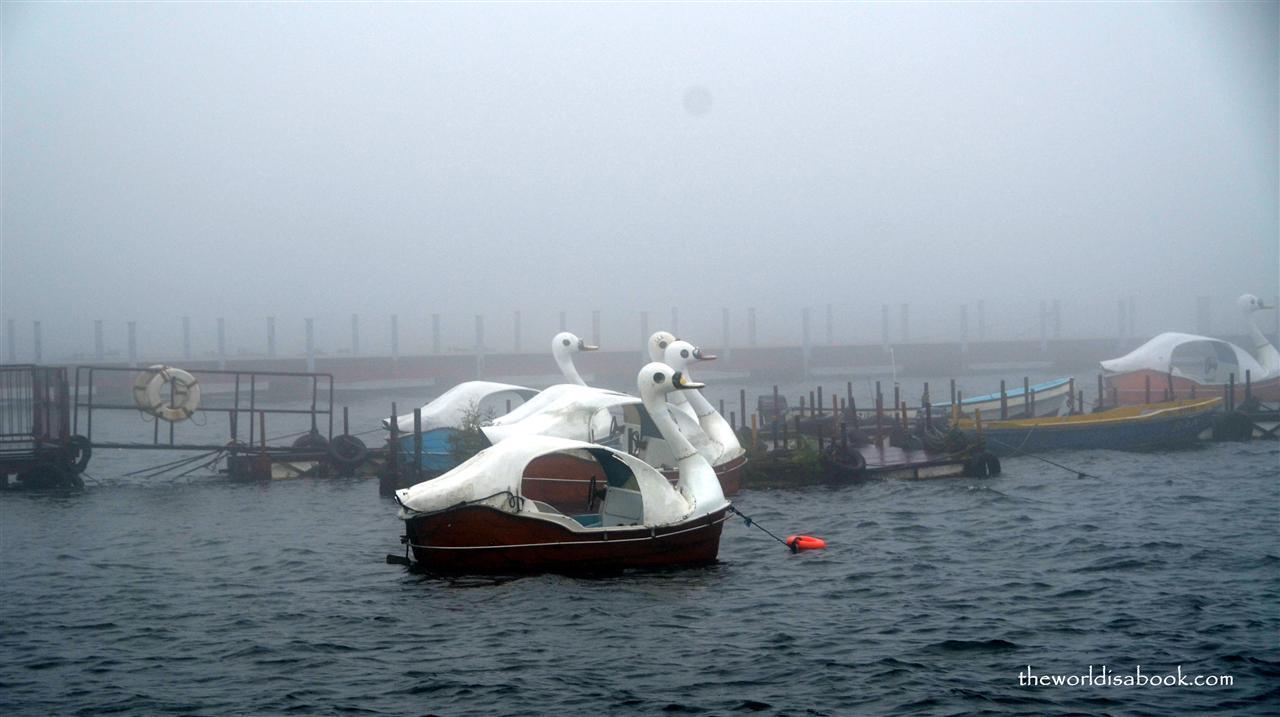 Hakone swan boat on Lake Ashi