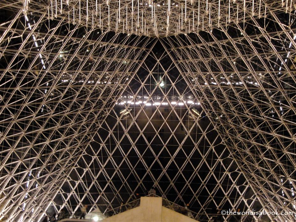 Under the Louvre Museum Pyramid