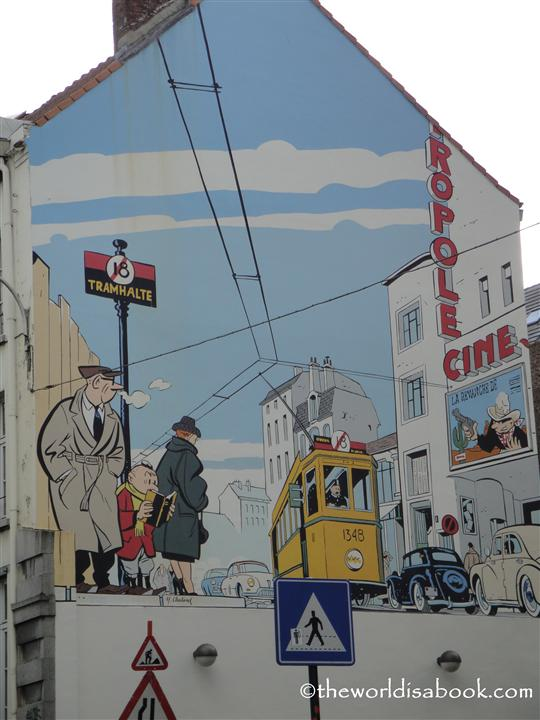 Brussels Mural on wall image