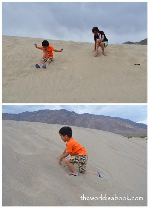 Mesquite Flat Sand Dunes kids play