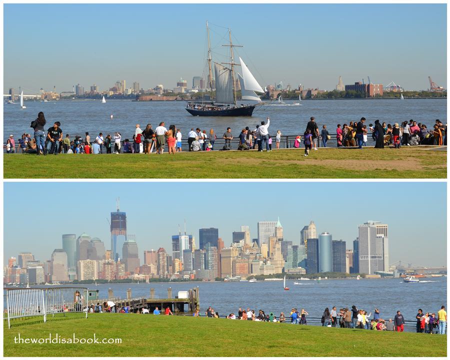 Liberty Island walkway and grounds