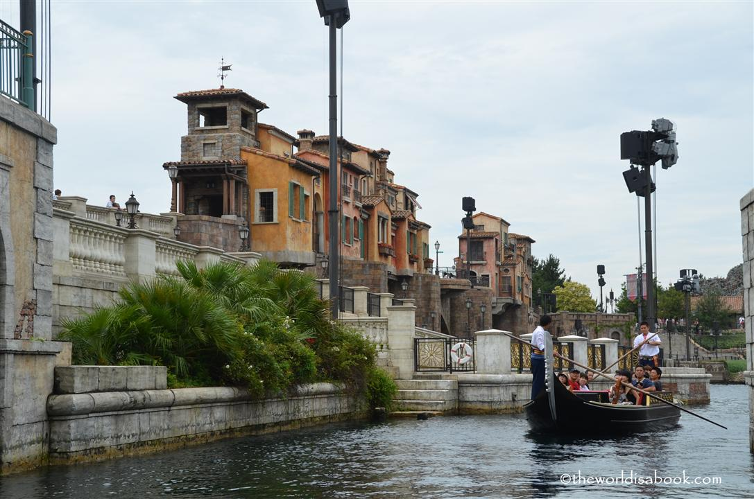 Mediterranean harbor gondola ride