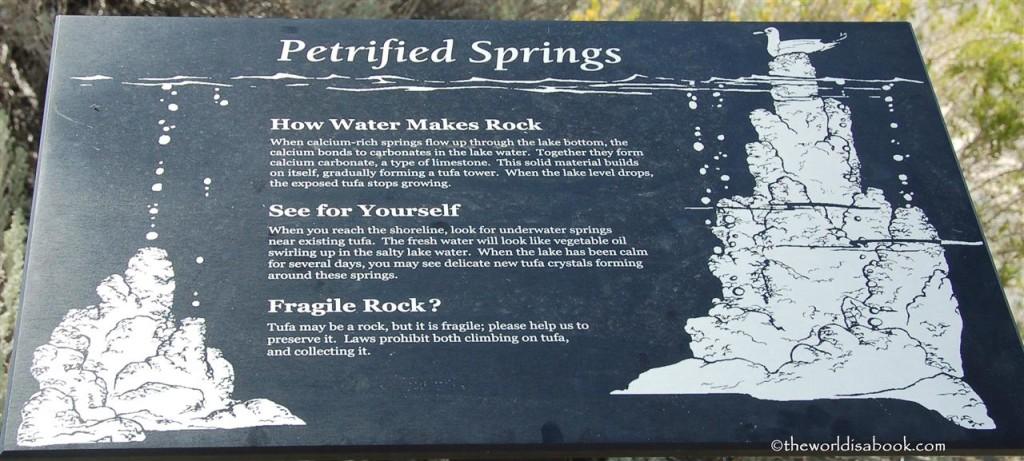 Tufa Petrified Springs Exhibits