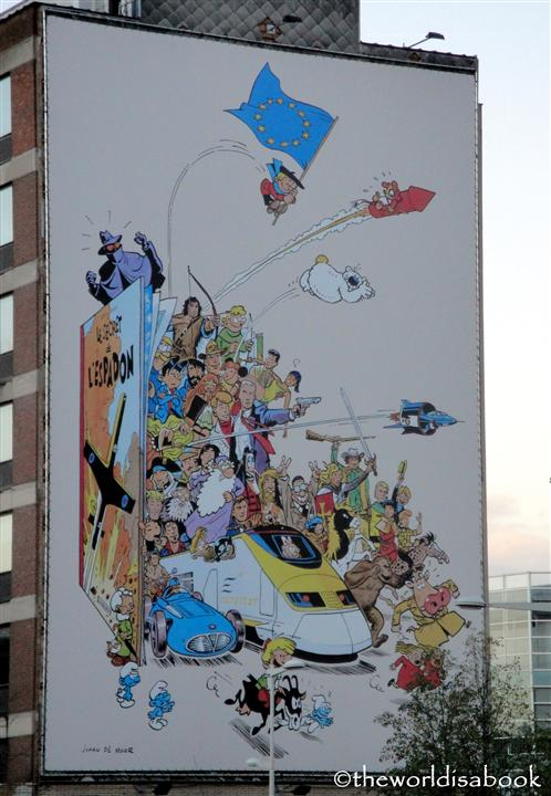 Brussels cartoon characters