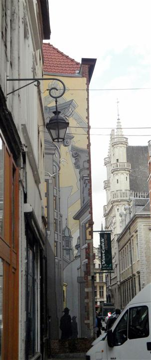 Brussels mural cartoon