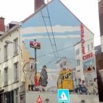 Comic Strip Wall Art in Brussels