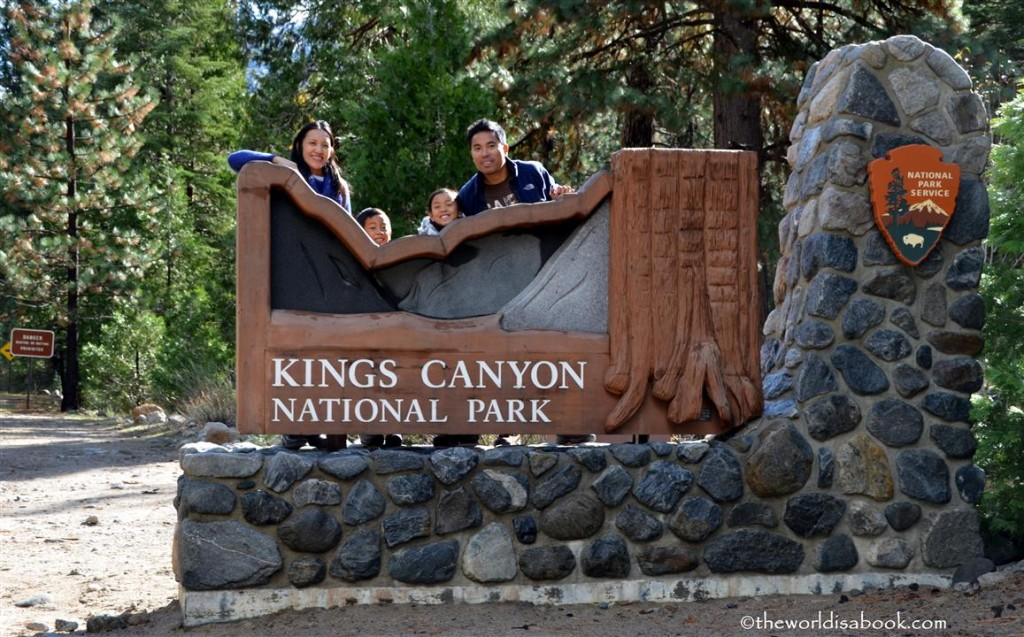 King's Canyon National Park sign