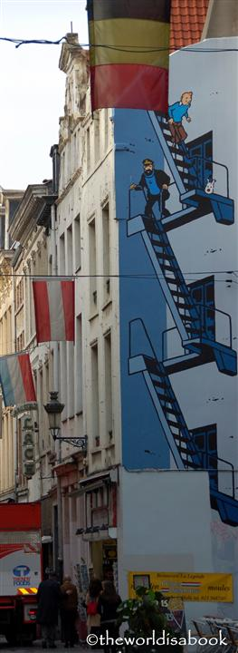 Brussels Tintin mural
