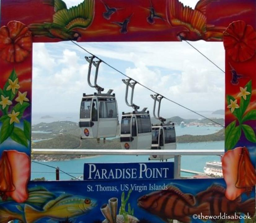 Paradise Point gondolas US Virgin Islands