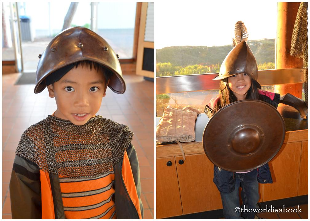 Cabrillo national monument armor and helmet