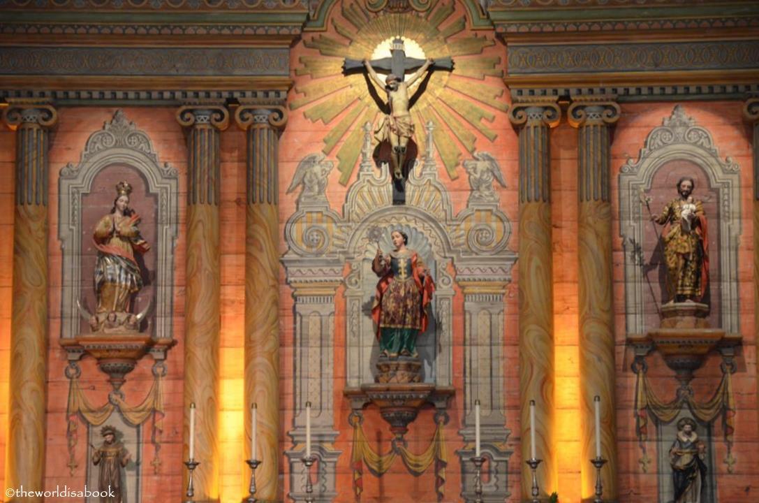 Mission Santa Barbara church altar