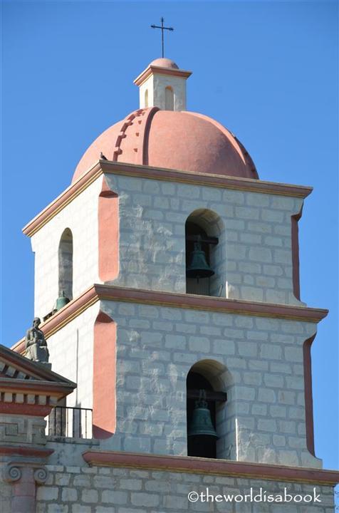 Mission Santa Barbara bell tower