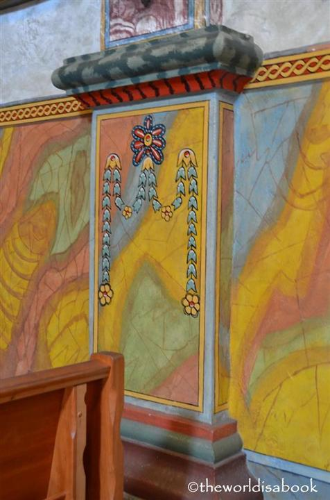 Mission Santa Barbara church walls