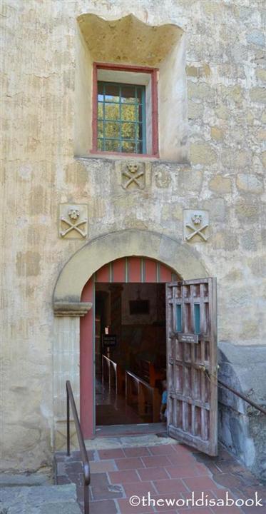 Mission Santa Barbara skull crossbones door