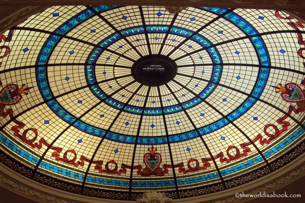 Boldt castle stained glass ceiling dome