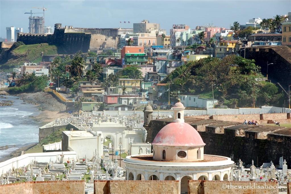 San Juan cemetary from El Morro