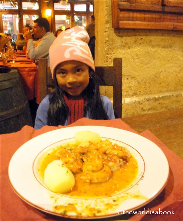 Paris dinner with kids