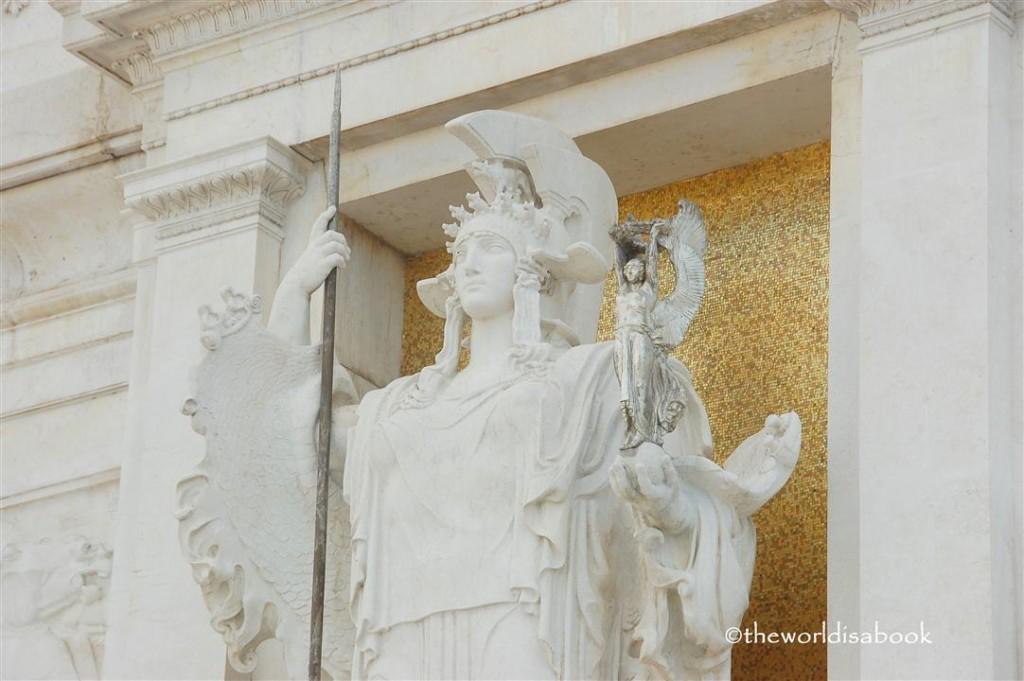 Goddess of Rome statue Vittoriano