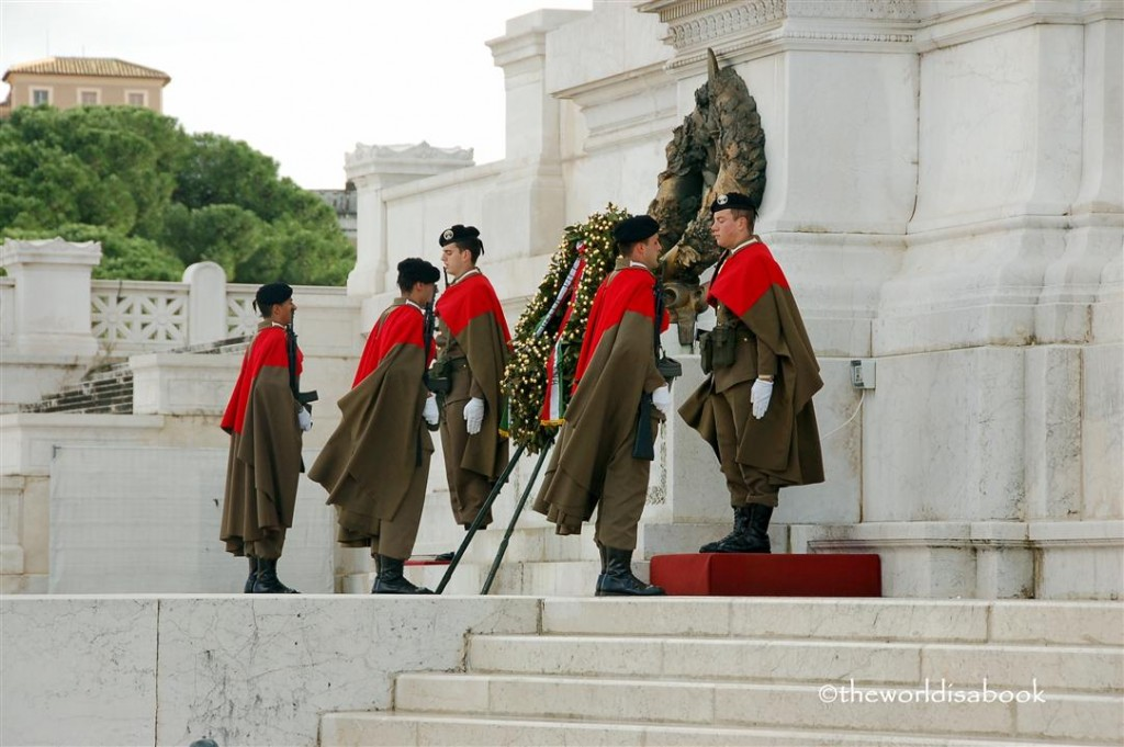 Changing of the guard at tomb of unlnown soldier rome