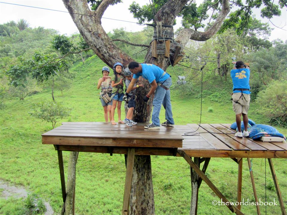 Mayan jungle canopy zipline roatan