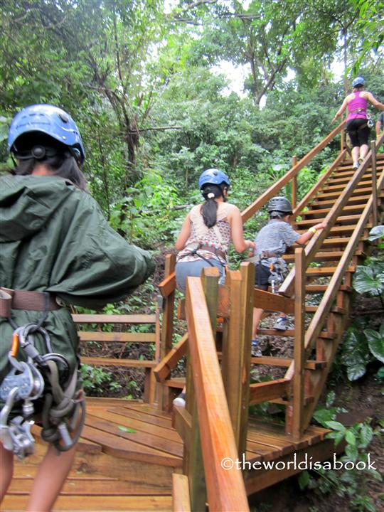 Zipline stairs roatan