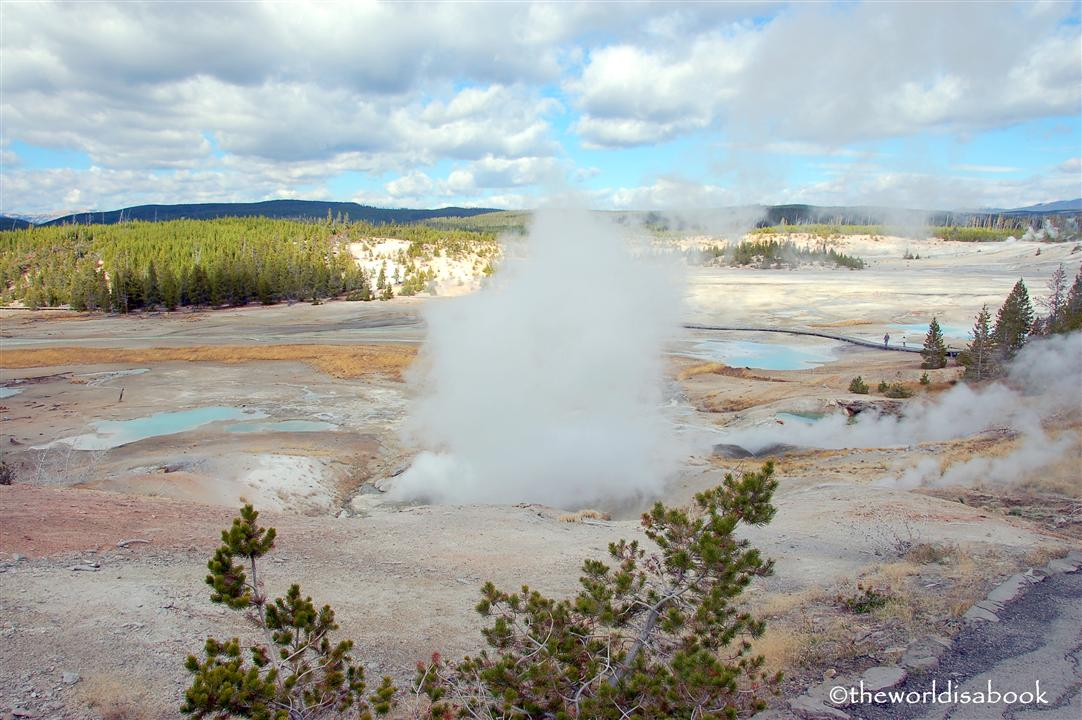 yellowstone national park porcelain basin image picture