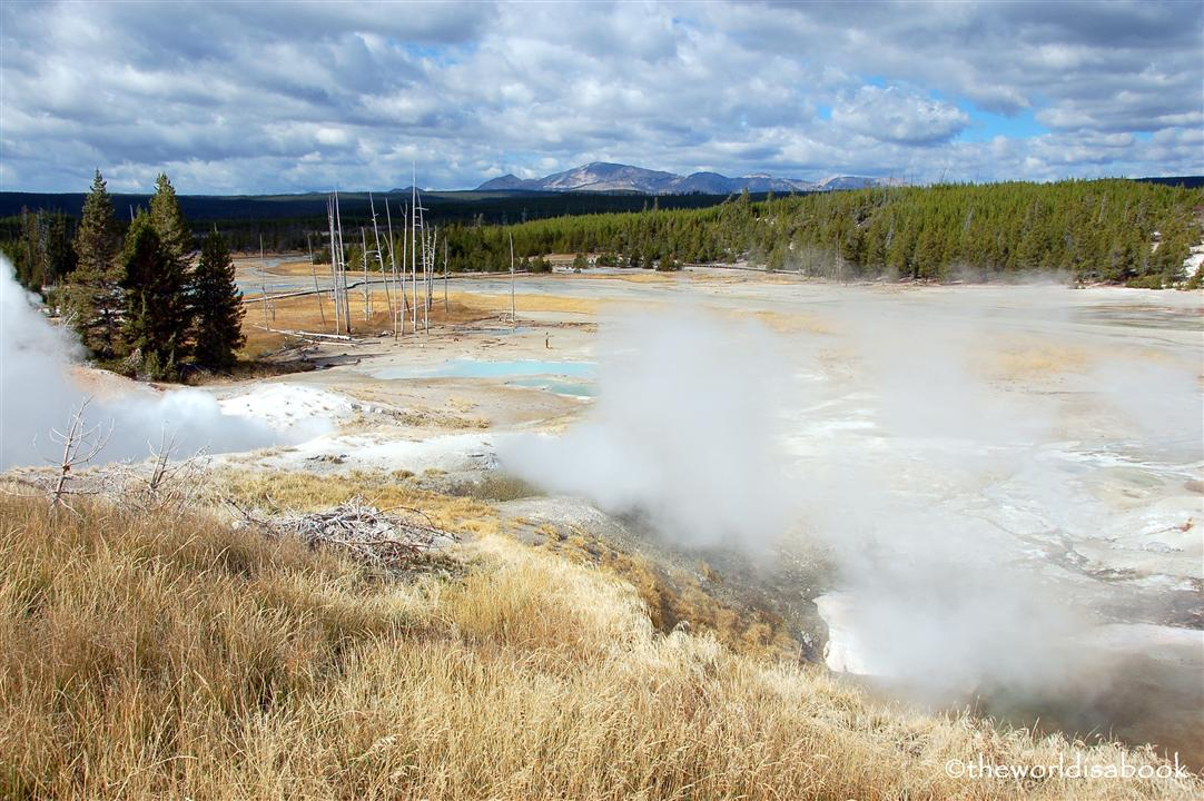 yellowstone national park porcelain basin