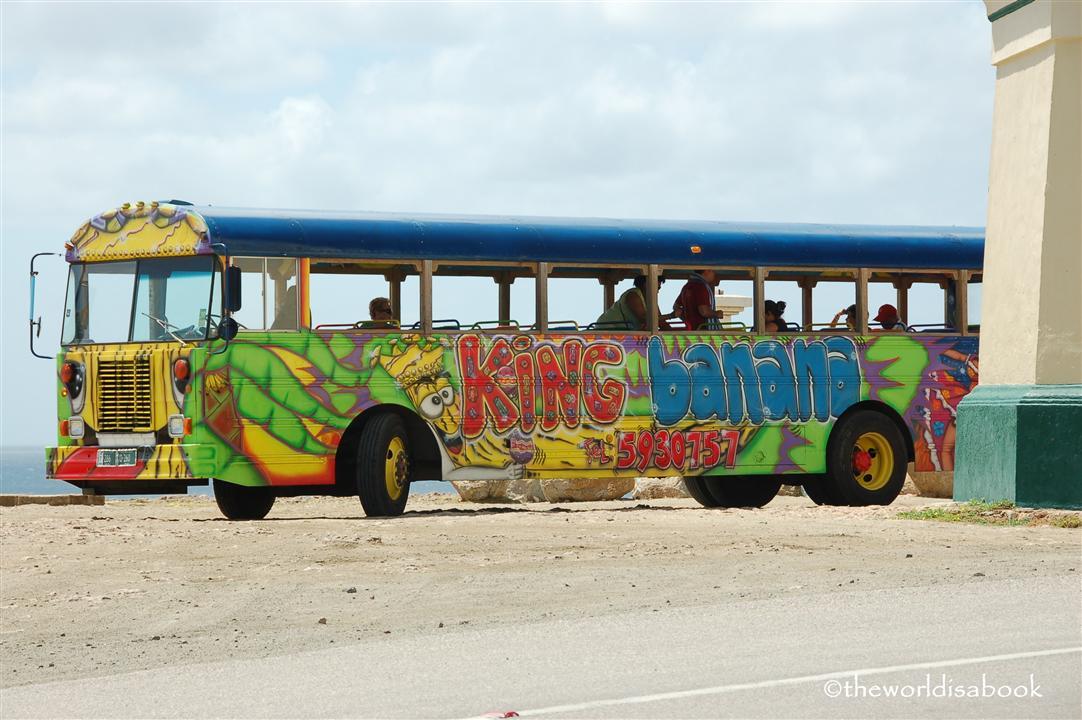 Aruba colorful tour bus