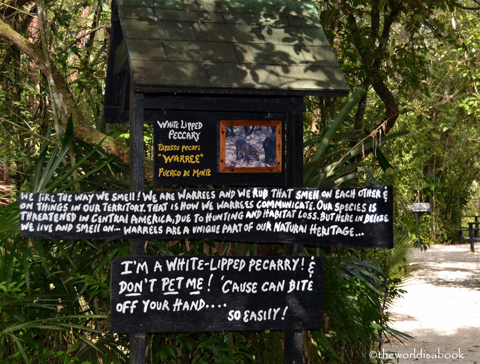 Belize zoo sign