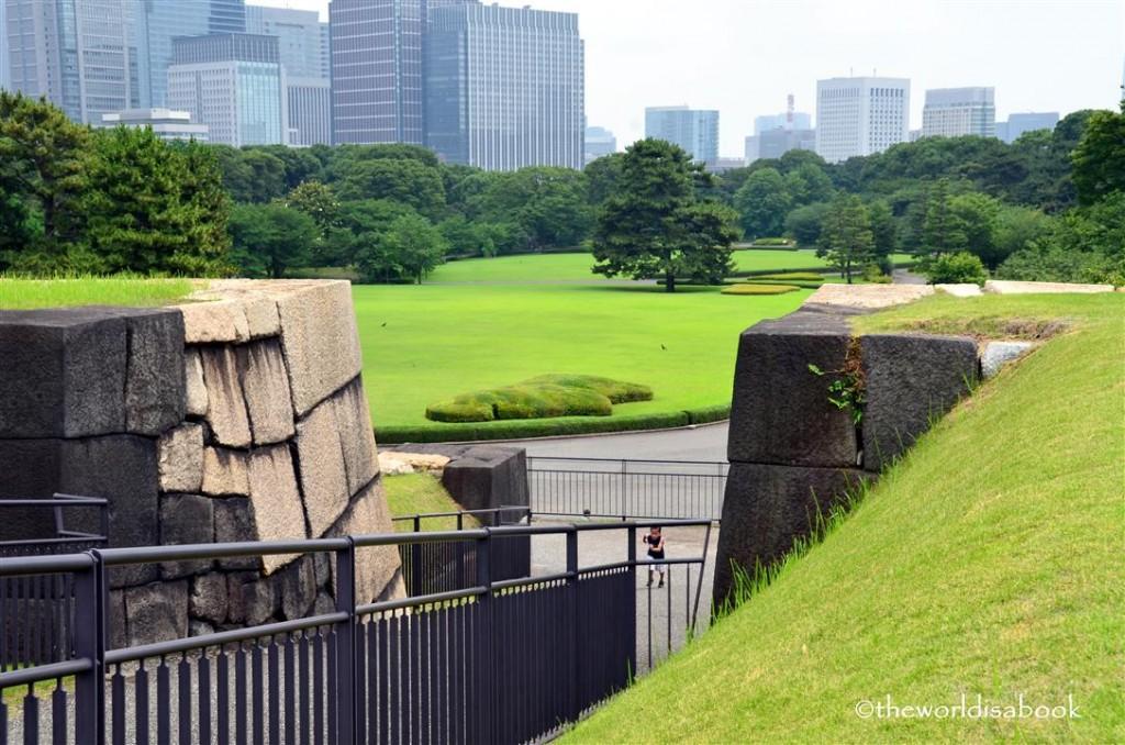 Tokyo Imperial garden edo castle wall image