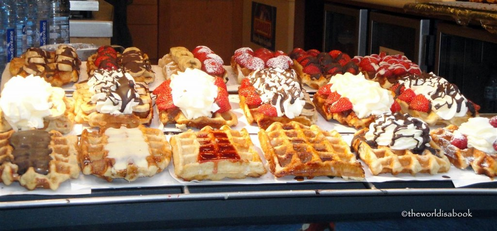 belgian waffles with toppings image