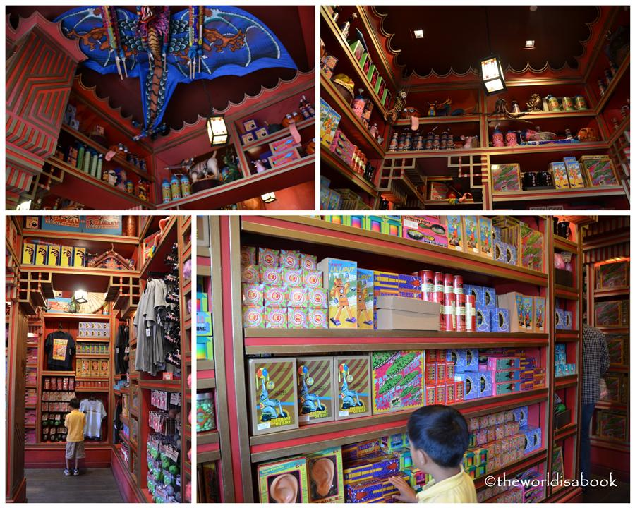 Wizarding world of Harry potter Hogsmeade novelty store