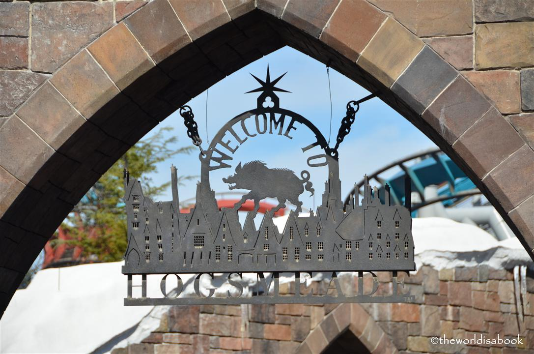Wizarding World of Harry Potter Hogsmeade sign